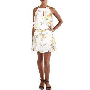 NWT Parker Willame Silk Smocked Mini Dress Small
